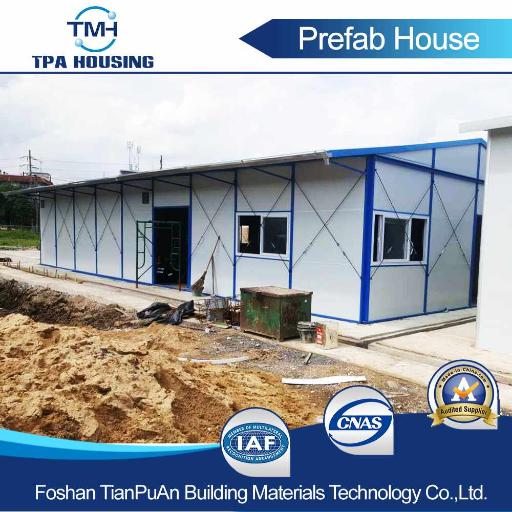 Sandwich Panel Slope Prefab House Is Suitable For The Low