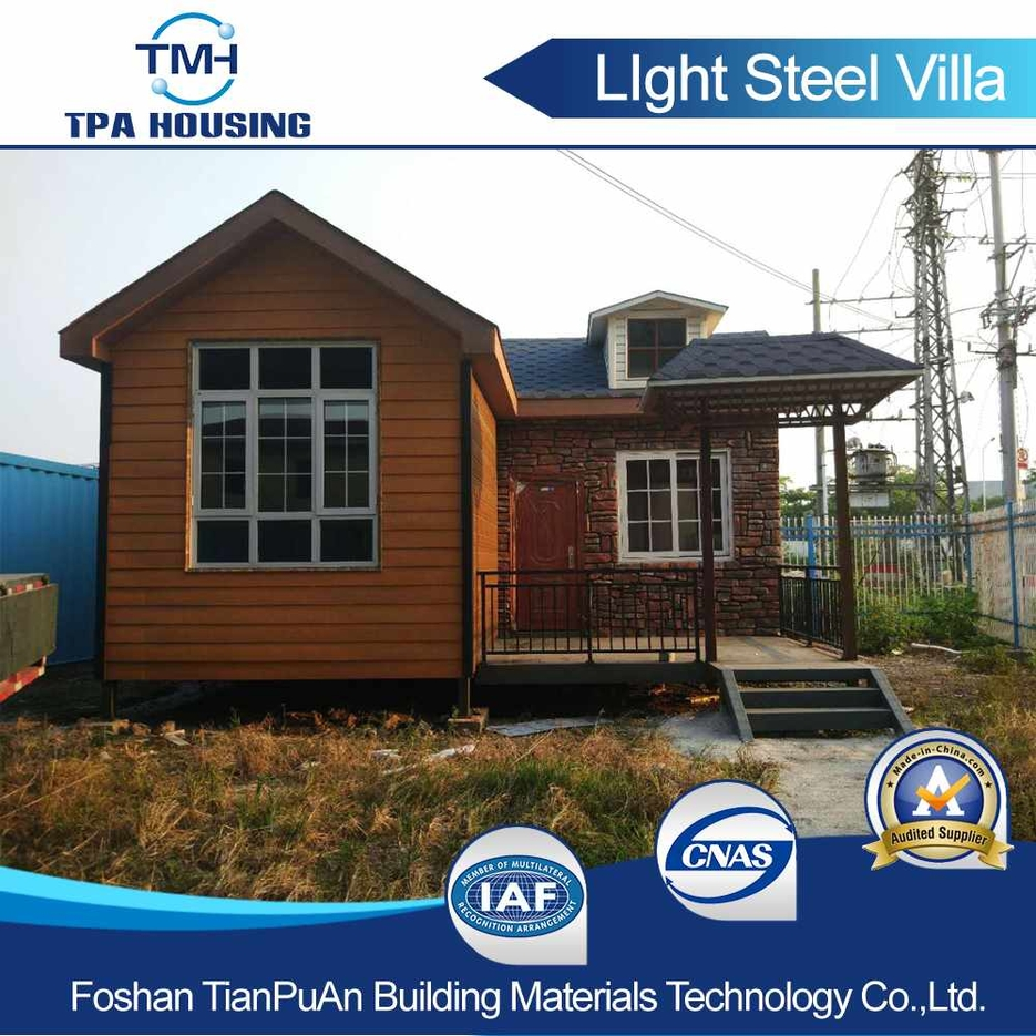 Modernized Design of Prefabricated Light Steel Structure Villa House --TPA-LSV06